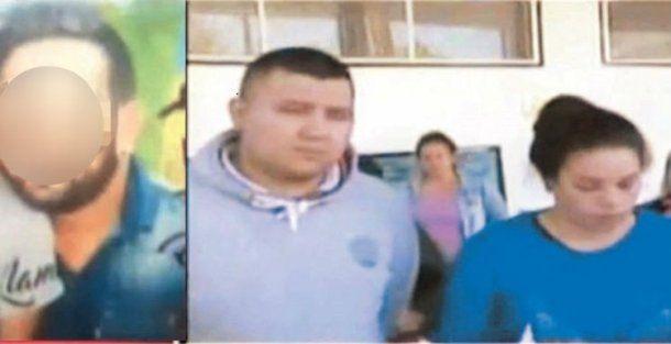 Esteban Pinat, de 29 años, y los padres del niño de 5 años que fue abusado