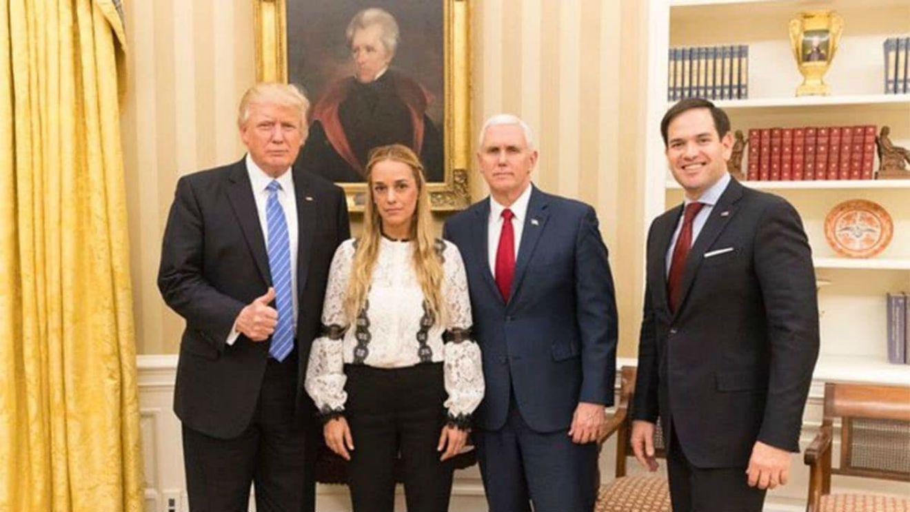 Donald Trump con Lilian Tintori
