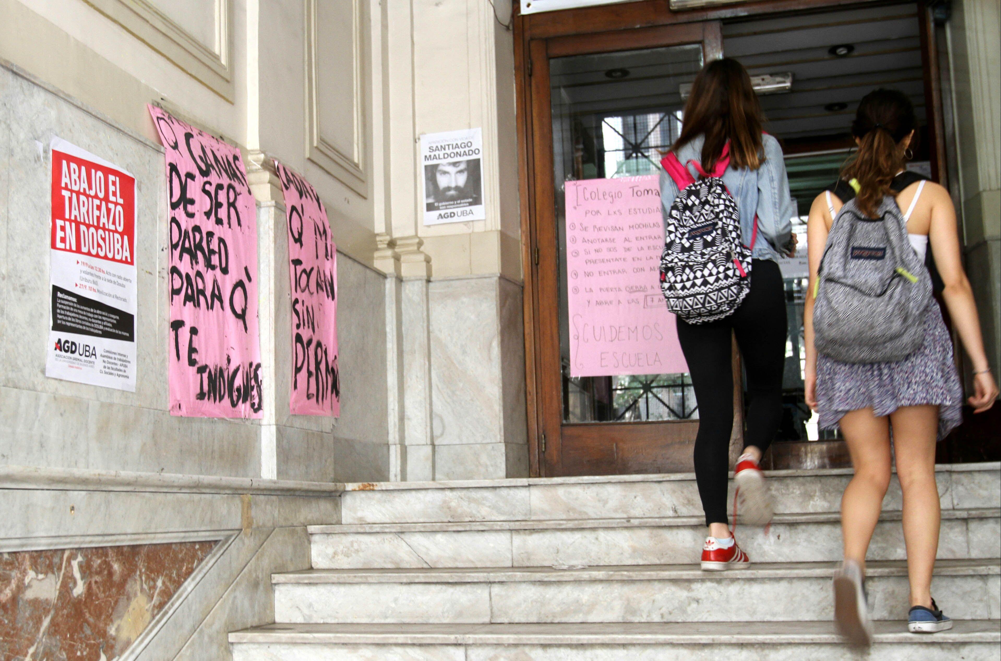 Qué dijo la alumna del Nacional Buenos Aires que sufrió abuso durante la toma