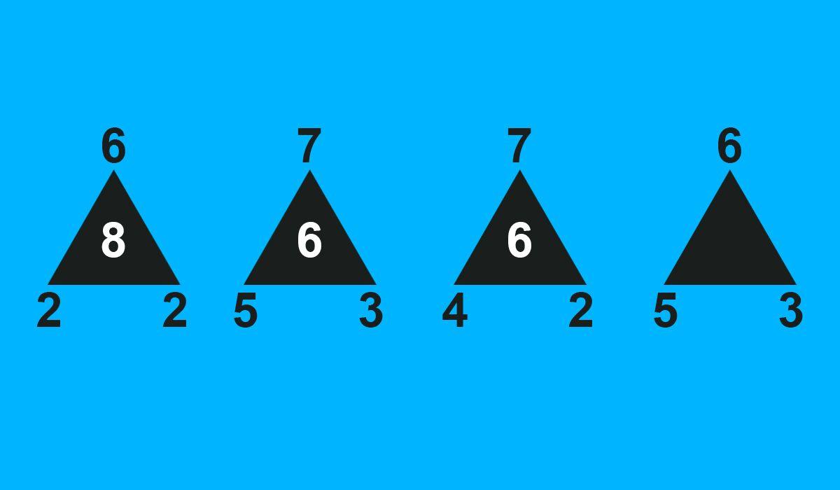 Acertijo matemático: ¿Podés determinar cuál es el número que va dentro del último triángulo?