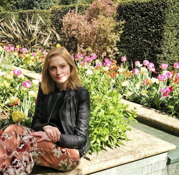 Lavinia Woodward pasó el verano en Italia con su familia