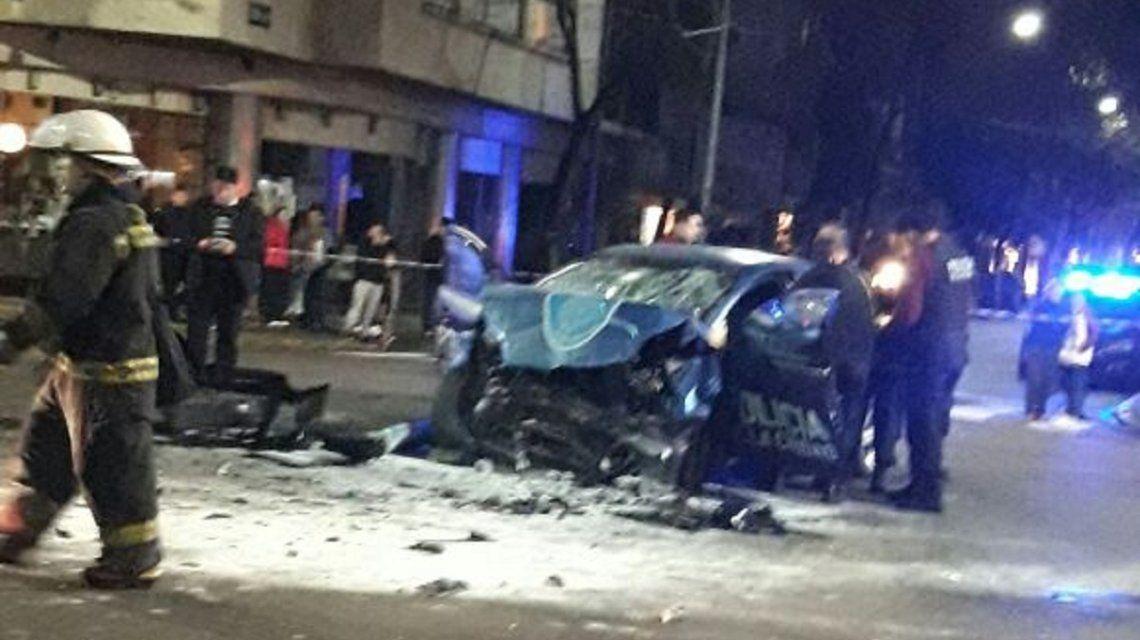 Choque de Patrullero en Combate de los Pozos y avenida Belgrano
