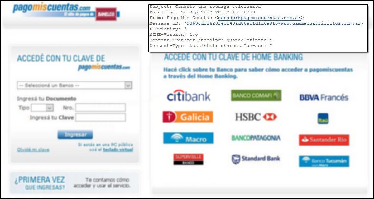 Advierten por una campaña informática que roba clave y contraseña bancaria