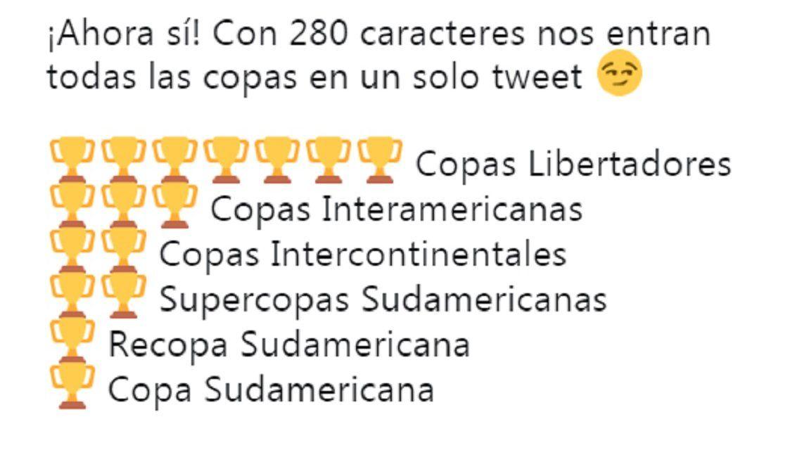 La original idea de Independiente para estrenar los 280 caracteres de Twitter