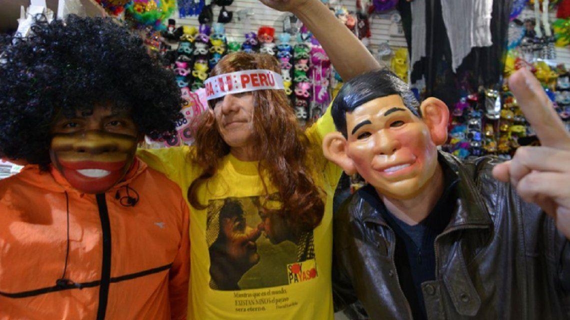Los hinchas peruanos