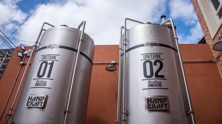 Los tanques de mil litros de birra