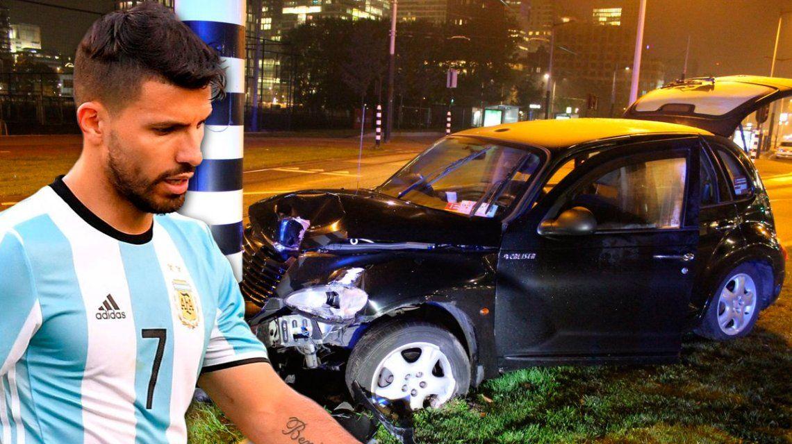 El Kun Agüero habló sobre el choque en Holanda: Me rompí la costilla, me duele mal