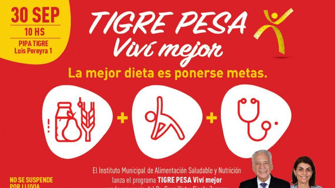 Con foco en la alimentación saludable, se lanza el programa Tigre Pesa
