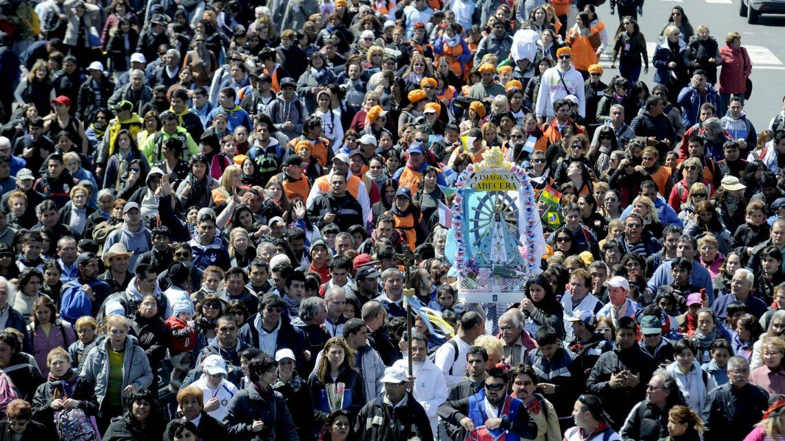 Llega una nueva peregrinación de los fieles a Luján (Foto de archivo)