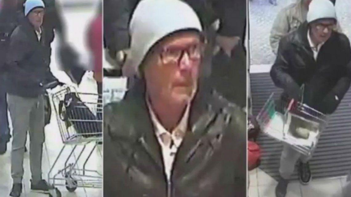 El hombre fue filmado cuando dejaba los productos envenenados en las góndolas de los supermercados