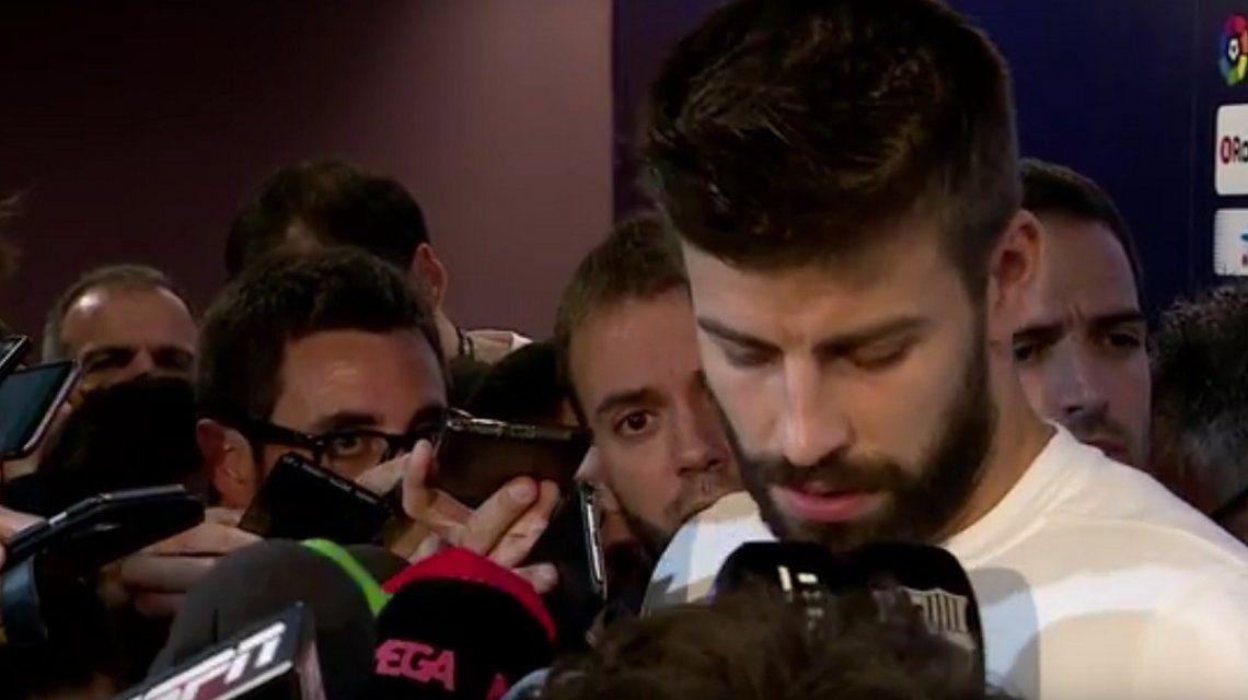 Piqué lloró por la represión en Cataluña y ofreció irse de la Selección de España