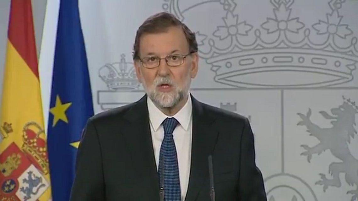 Rajoy había disuelto el parlamento catalán para llamar a las elecciones de hoy