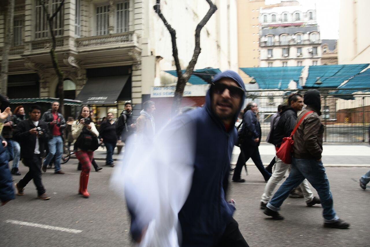 Agredieron a la prensa después de la marcha de Santiago Maldonado