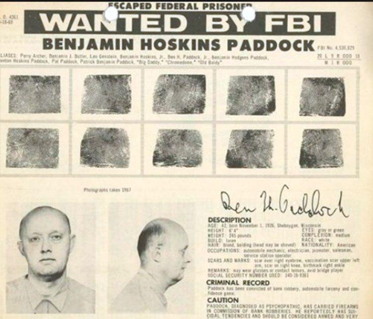 El padre del tirador de Las Vegas fue uno de los delincuentes más buscados por el FBI
