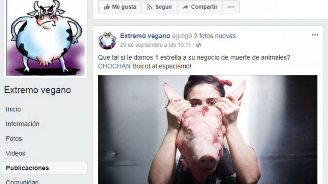 El grupo quiso boicotear a un restaurante de Palermo