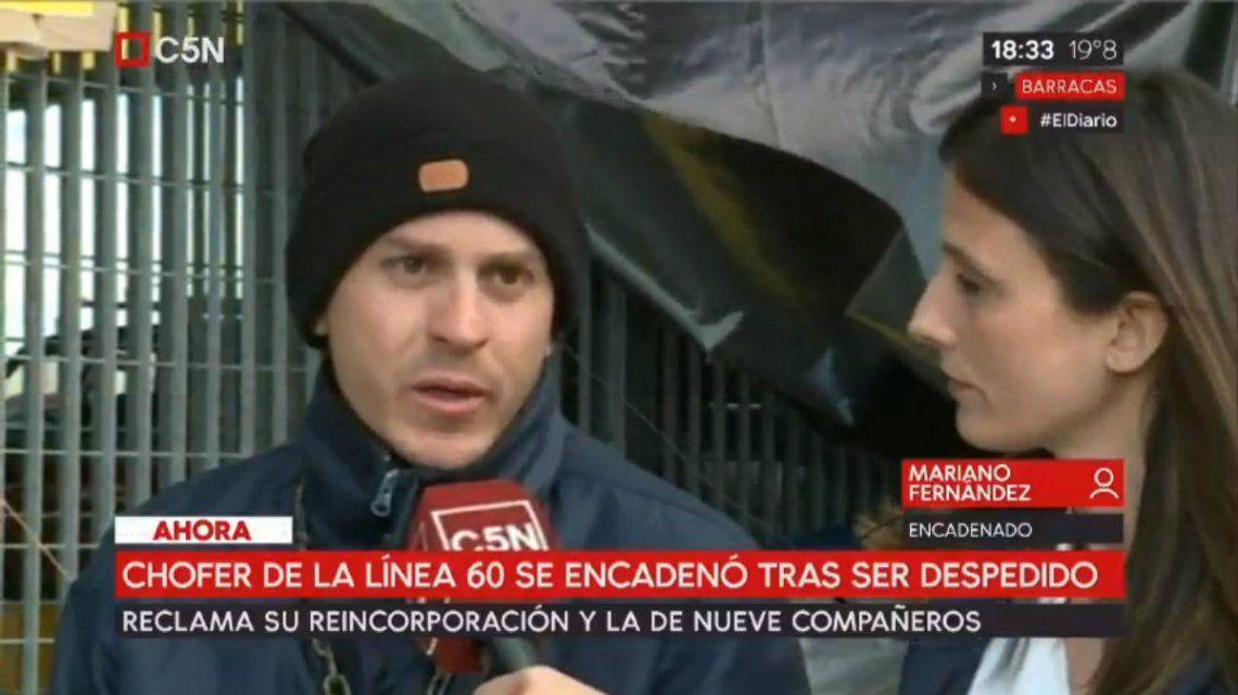 Fernández denunció que fue despedido por ser testigo clave