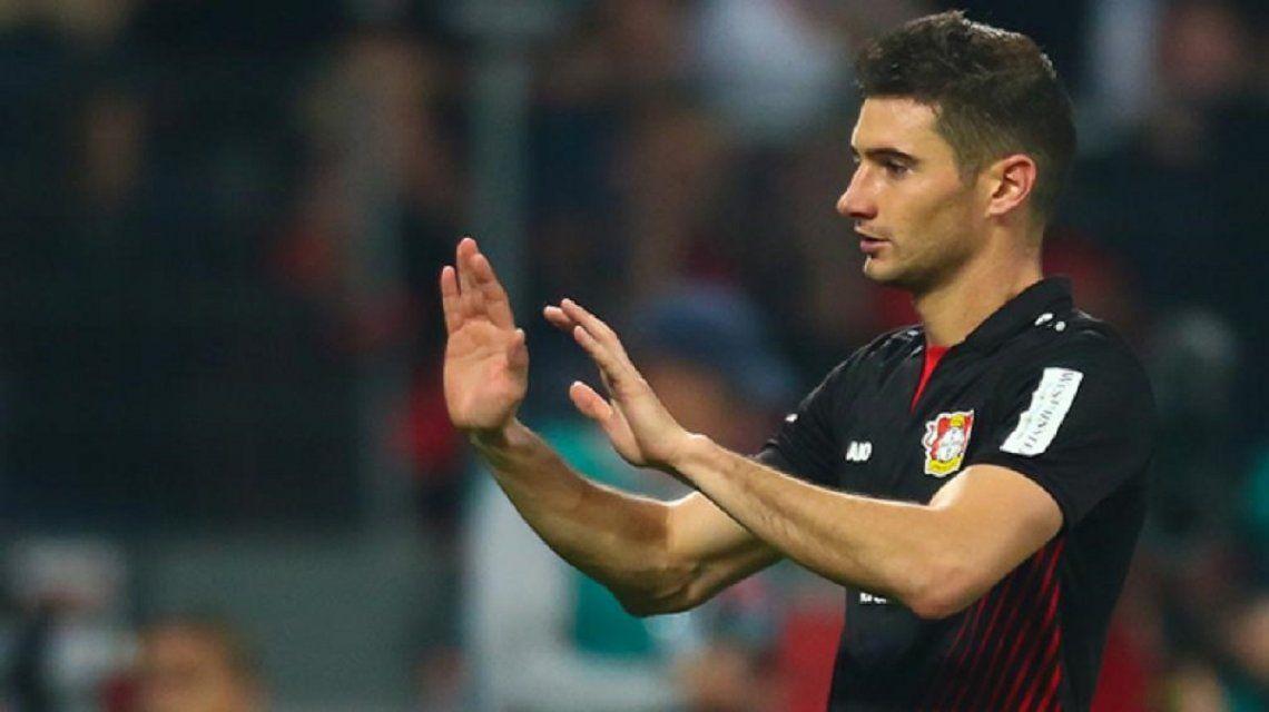 Lucas Alario en el Bayer Leverkusen