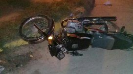 Así quedó la moto tras ser arrollada