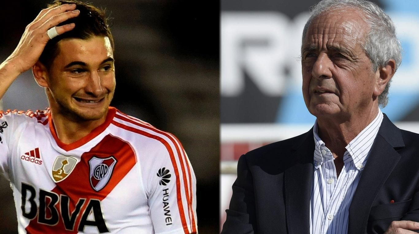 Lucas Alario y Rodolfo DOnofrio