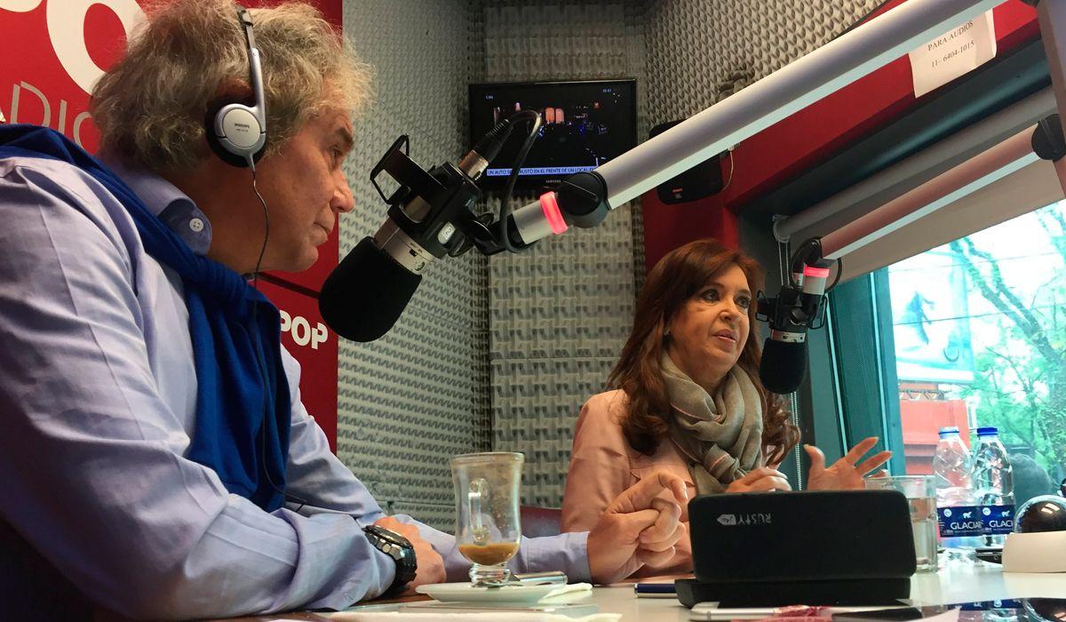 Cristina Kirchner, con Beto Casella en Pop: Está claro que C5N no era mío