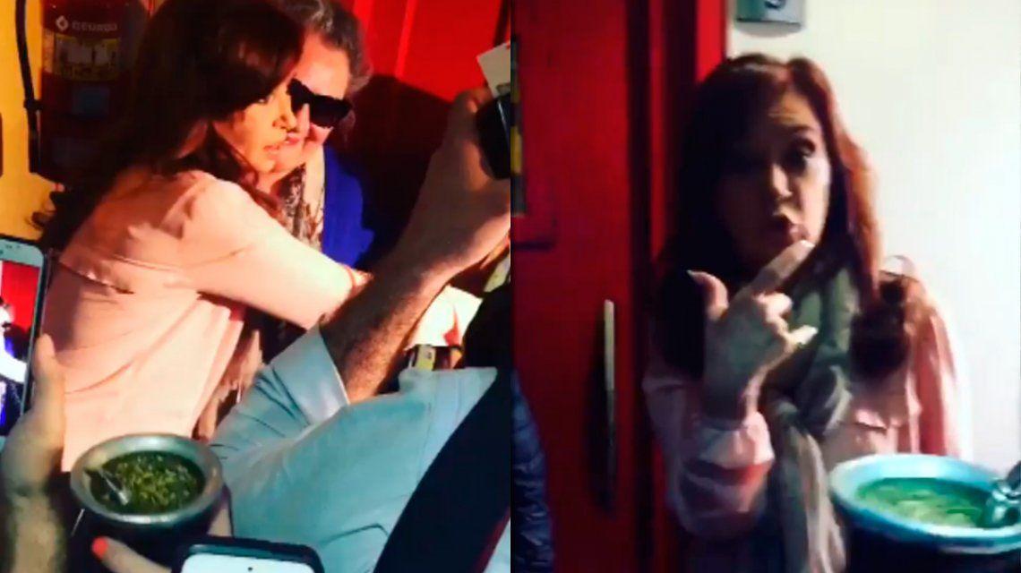 La reacción de Cristina Kirchner cuando le ofrecieron un mate