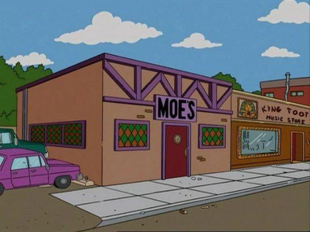 La taverna de Moe´s, donde Homero y sus amigos se juntan
