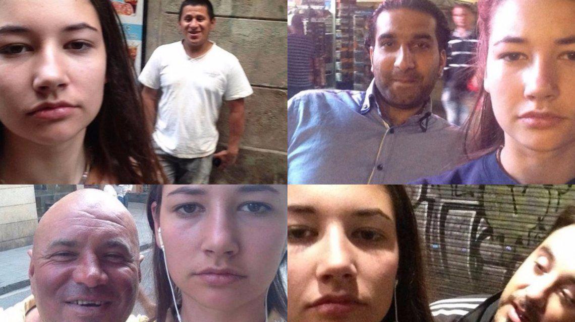 Una joven se saca selfies con sus acosadores callejeros para dar un fuerte mensaje