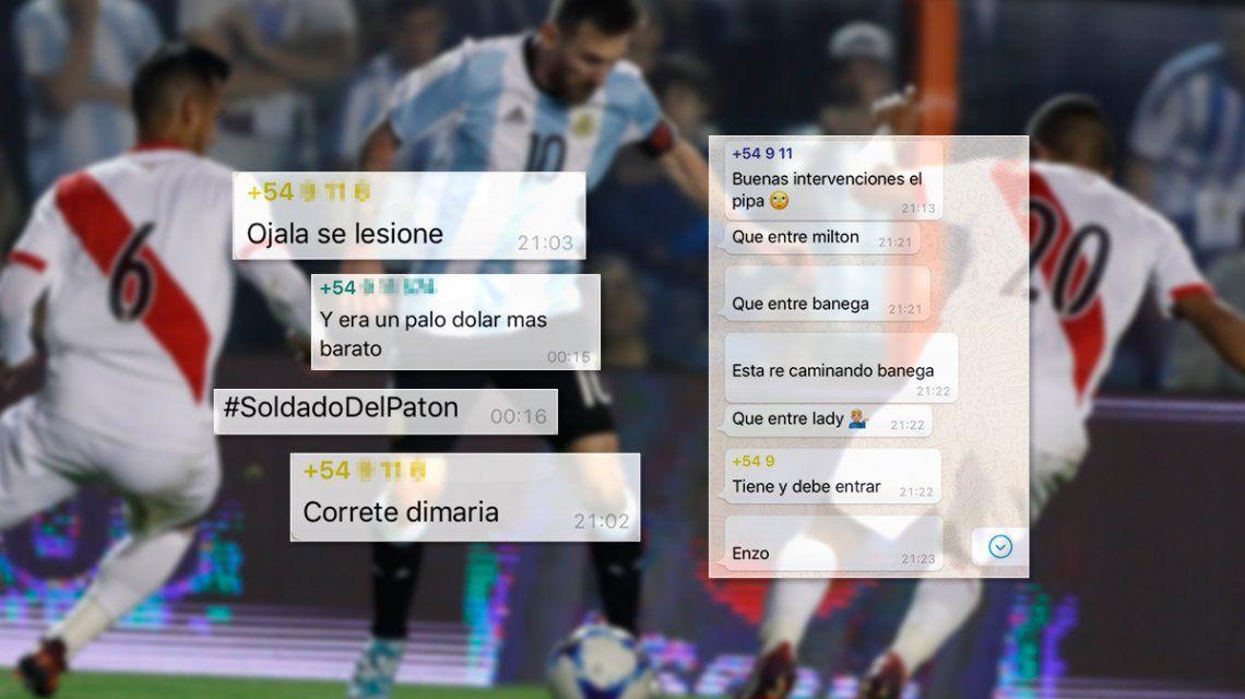 VIDEO: Así se sintió en los grupos de WhatsApp la decepción de Argentina