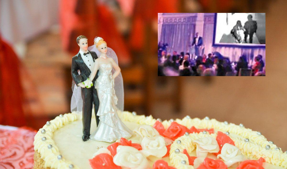El novio esperó el momento exacto para delatar a su mujer