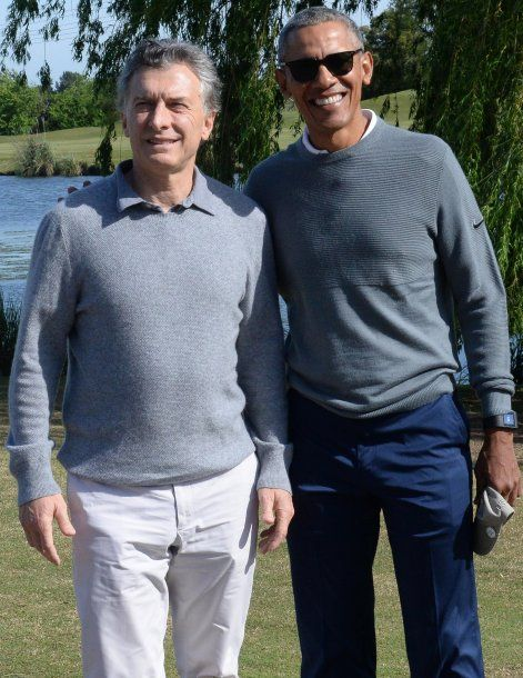 El encuentro entre el presidente y el ex mandatario norteamericano fue este sábado