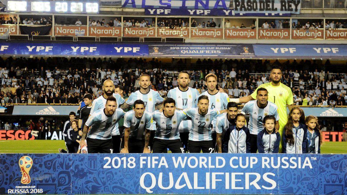 El equipo titular de Argentina vs. Perú