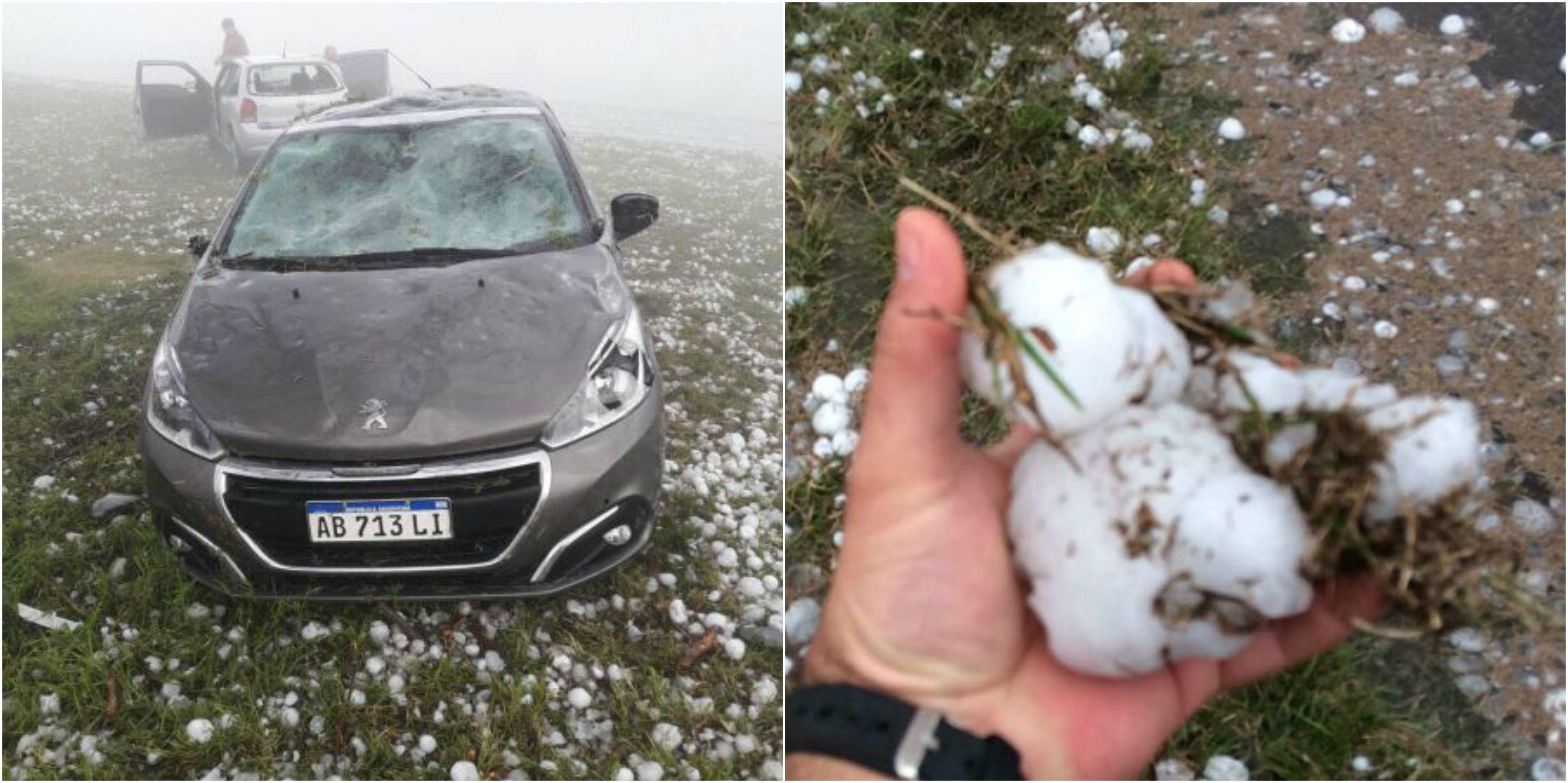 Algunos de los autos que sufrieron fuertes daños
