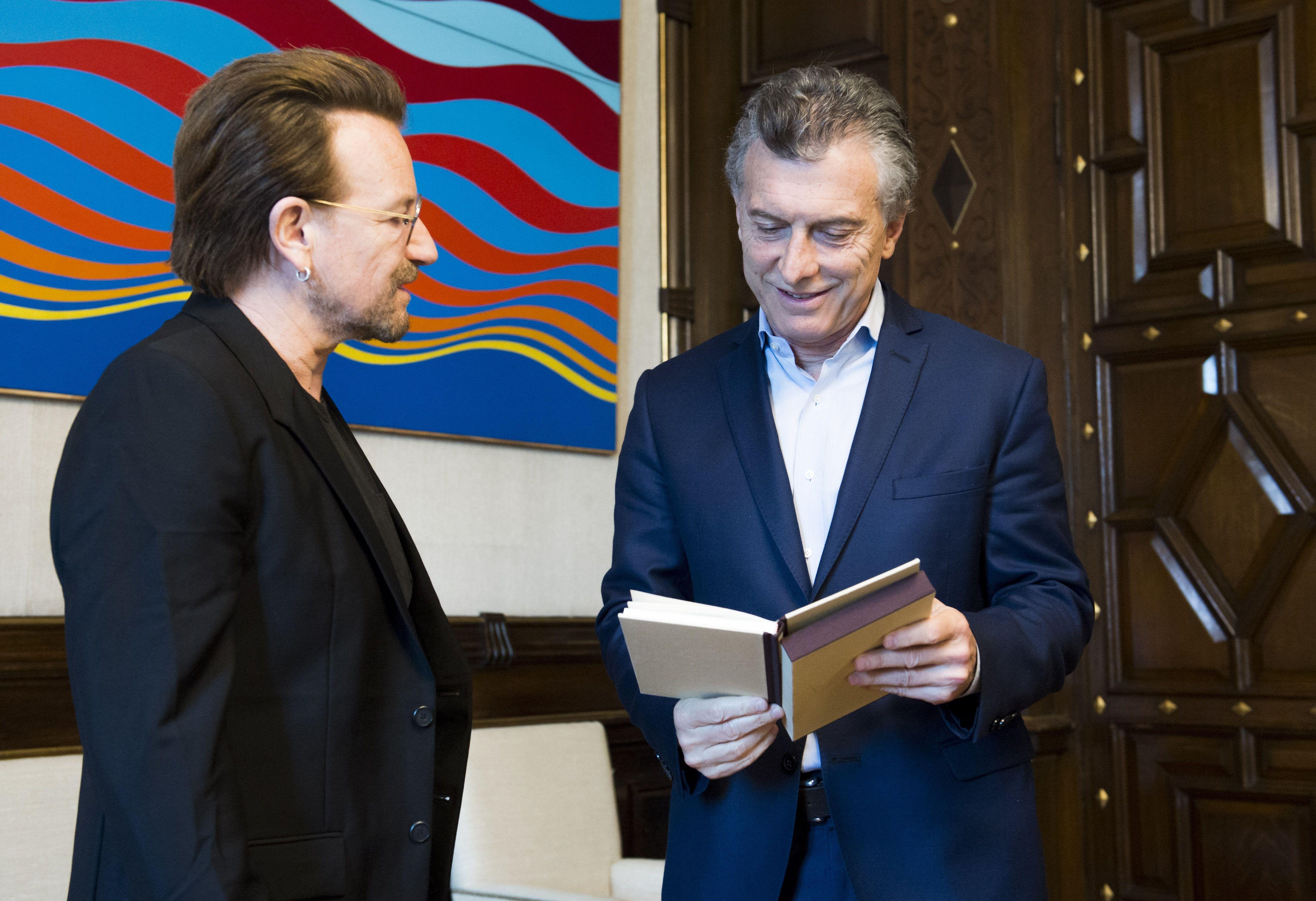 Mauricio Macri recibió a Bono