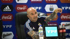Jorge Sampaoli en conferencia de prensa