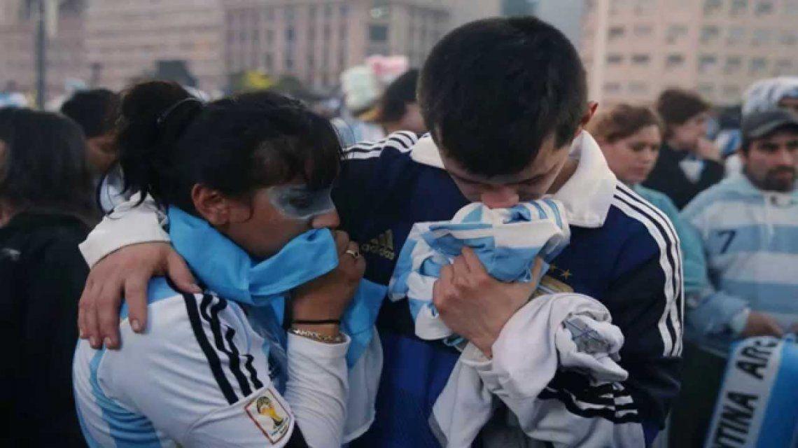 Hinchas de Argentina entristecidos