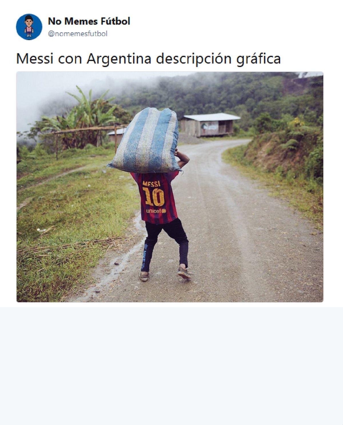 Memes de Messi vs. Ecuador