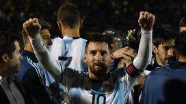 Lionel Messi celebrando la clasificación