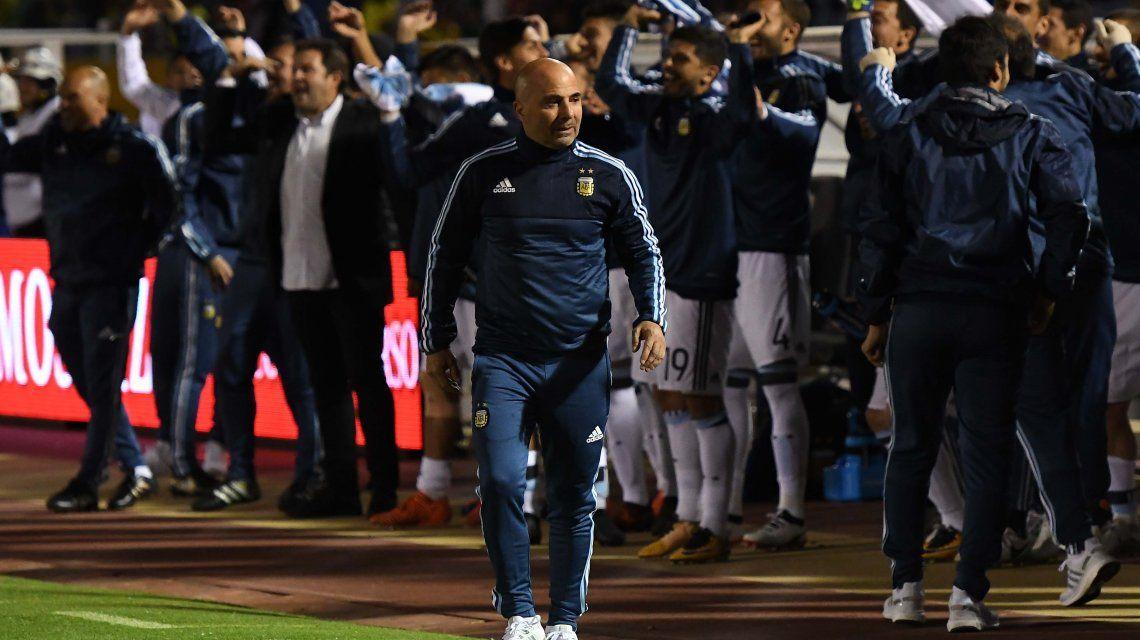 Sampaoli y todo el plantel delira con la clasificación en Quito