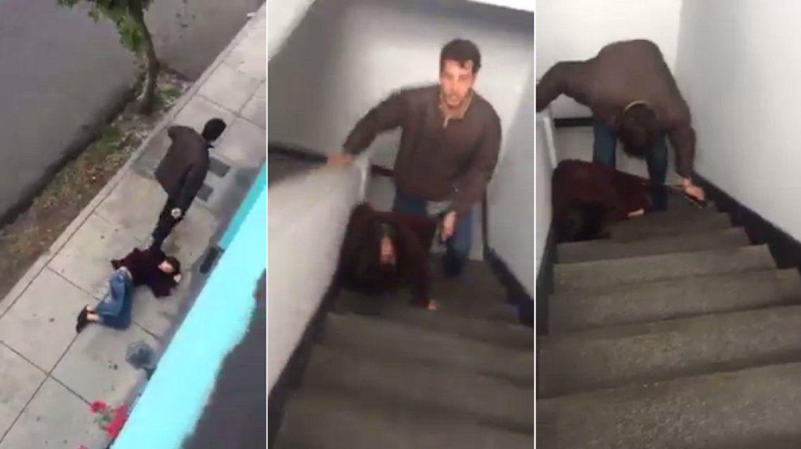VIDEO: Indignación en Perú por la brutal agresión de un hombre a su pareja en plena calle