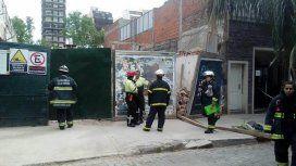 Se derrumbó una obra en construcción en Villa Crespo: hay dos muertos