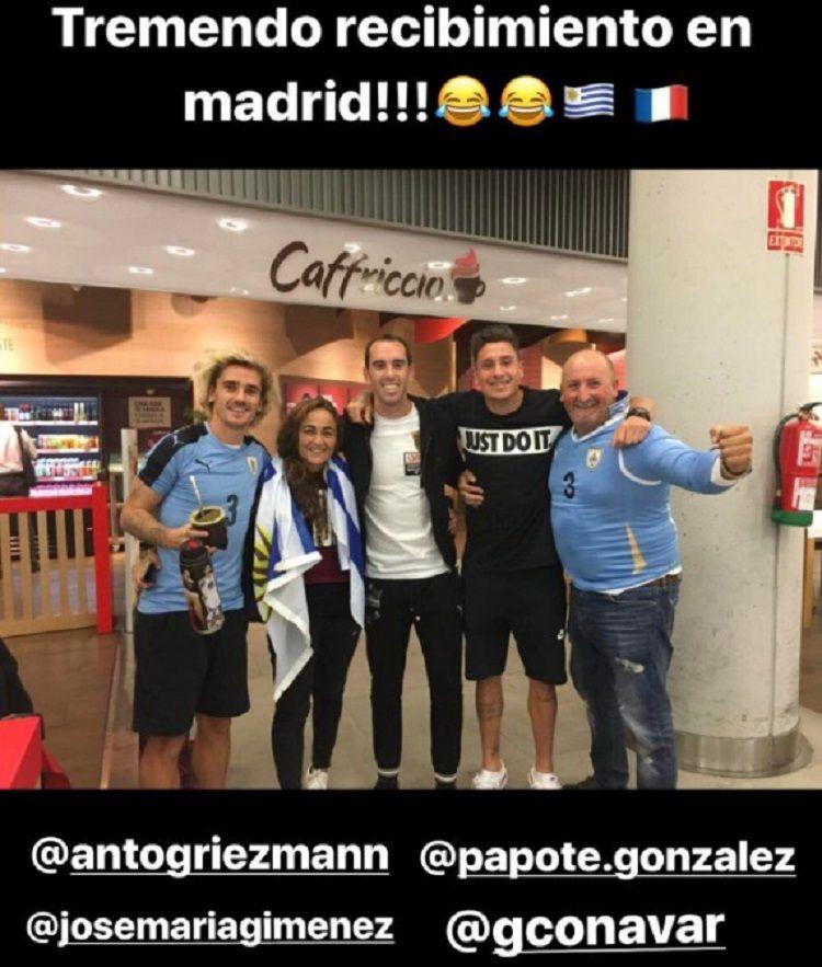 ¡Vamo arriba, bo! El francés Antoine Griezmann se disfrazó de uruguayo