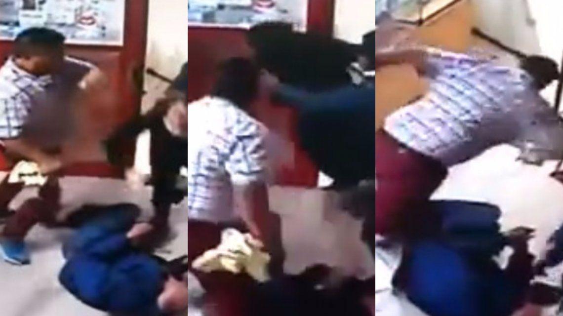 VIDEO: Violento asalto a un local de telefonía celular