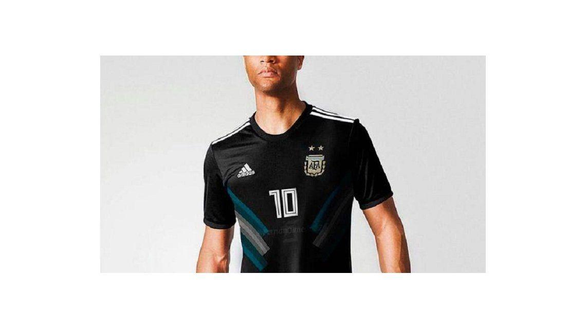 Camiseta negra de Argentina