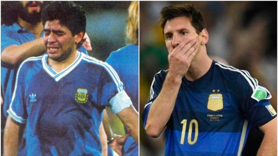 La camiseta azul se usó en las finales de Italia 90 y Brasil 2014