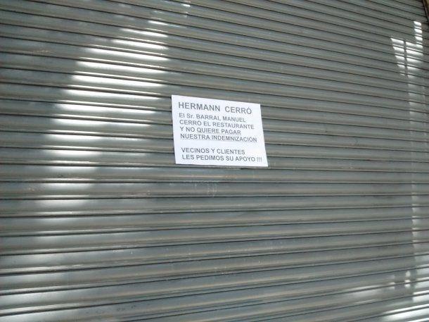 Hermann cerró sus puertas y dejó a los empleados en la calle