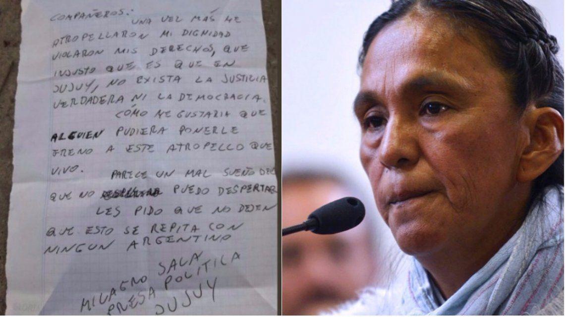 Carta de Milagro Sala desde la cárcel