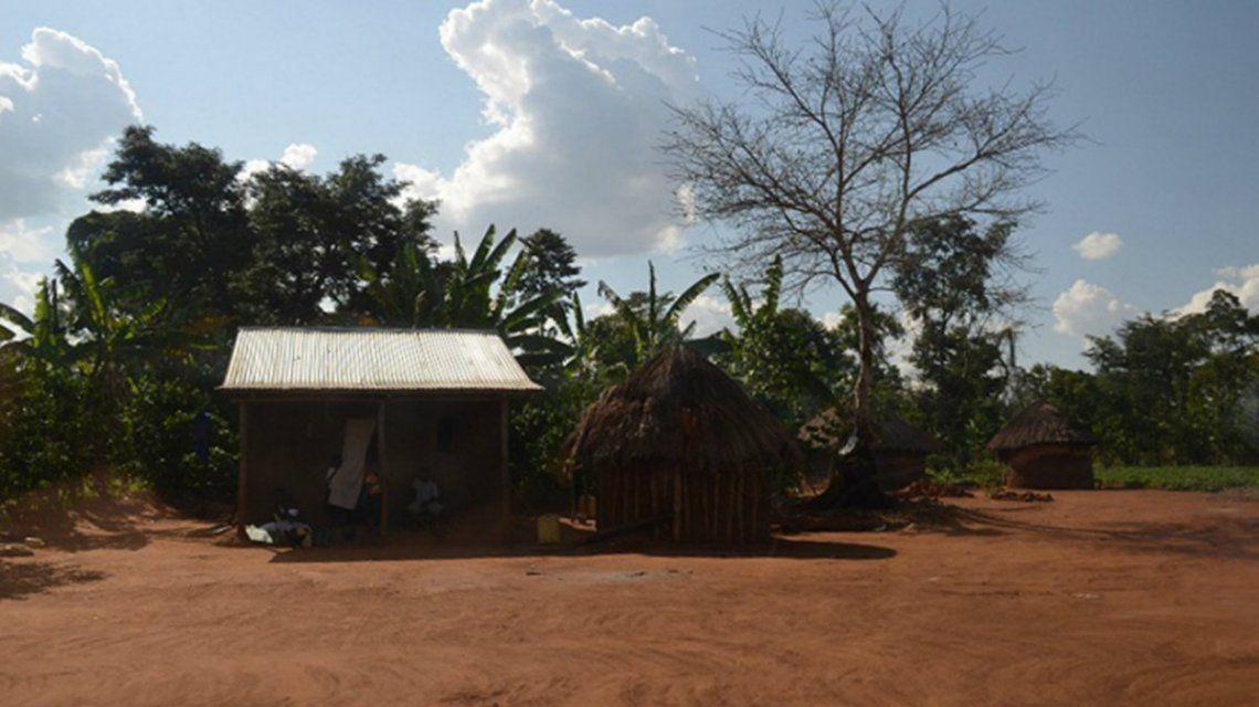 El hogar original de Namata en Uganda