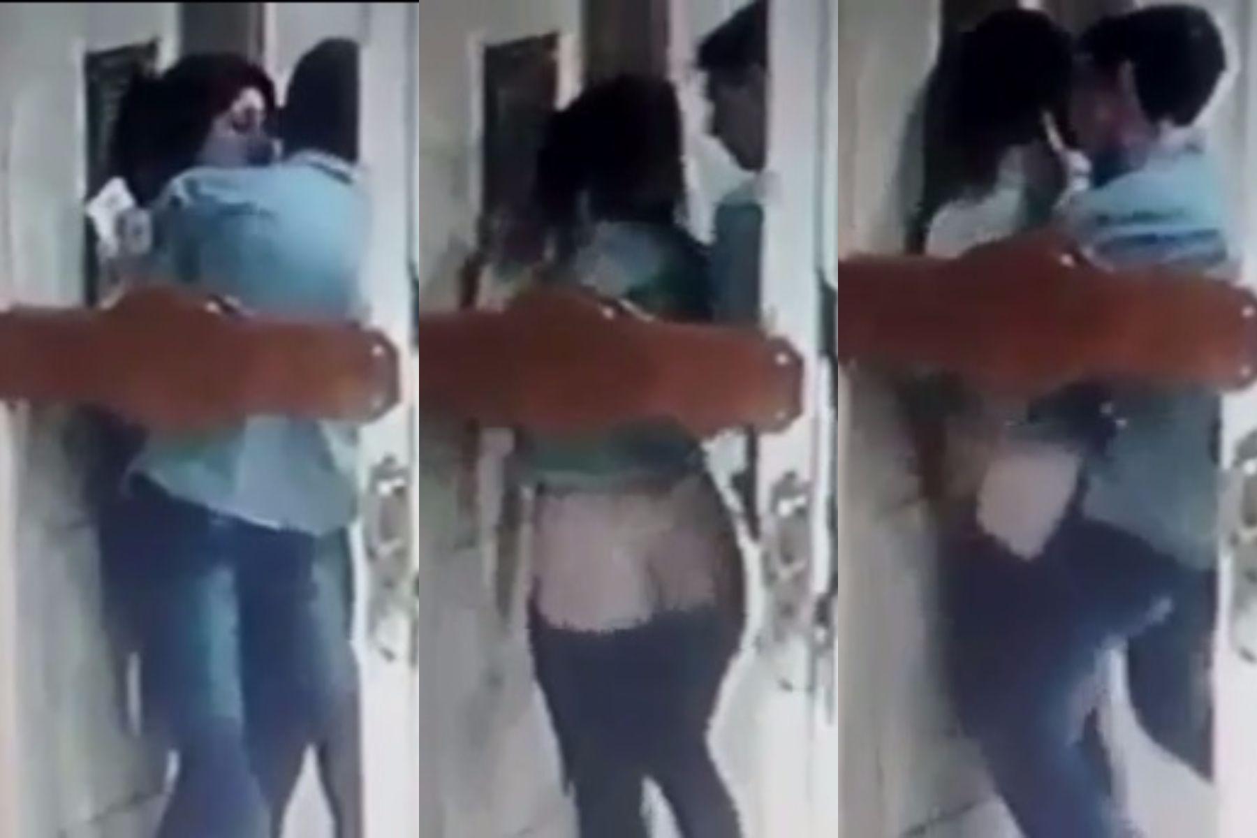 VIDEO: Tuvieron sexo en la puerta de un edificio y los escracharon
