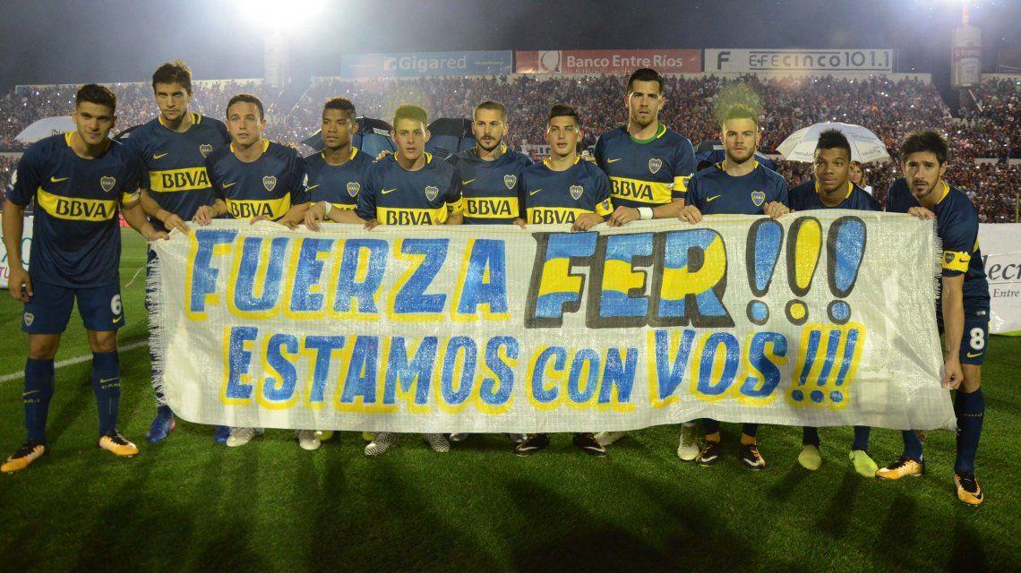 Bandera del primer equipo de Boca para Gago