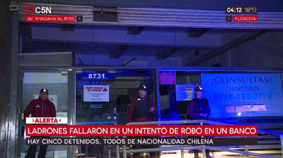 Policía de la Ciudad custodiaba el lugar tras el robo